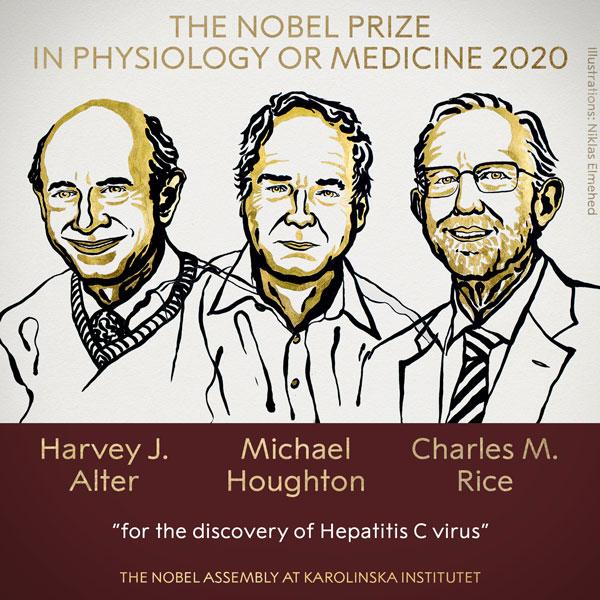 Нобелівську премію з медицини 2020 присудили трьом вченим за дослідження вірусу гепатиту С